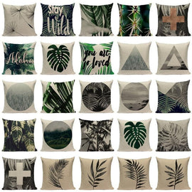 Botanical Fantasy Jungle Nature Cushion Covers