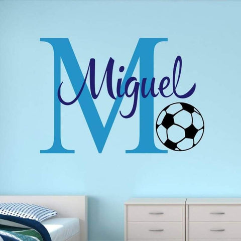 Tiptophomedecor Boys Name Soccer Decal