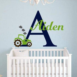 Tiptophomedecor Boys Name Tractor Decal