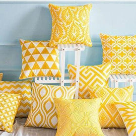 Bright Happy Yellow Cushion Covers-Tiptophomedecor-Interior-Design-Home-Decor