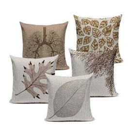 Tiptophomedecor Bronze Leaves Pillow Covers