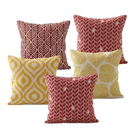 Yellow Red Leaves Cushion Covers
