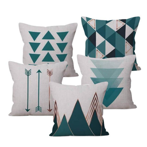 Blue Nordic Throw Pillow Cases-TipTopHomeDecor