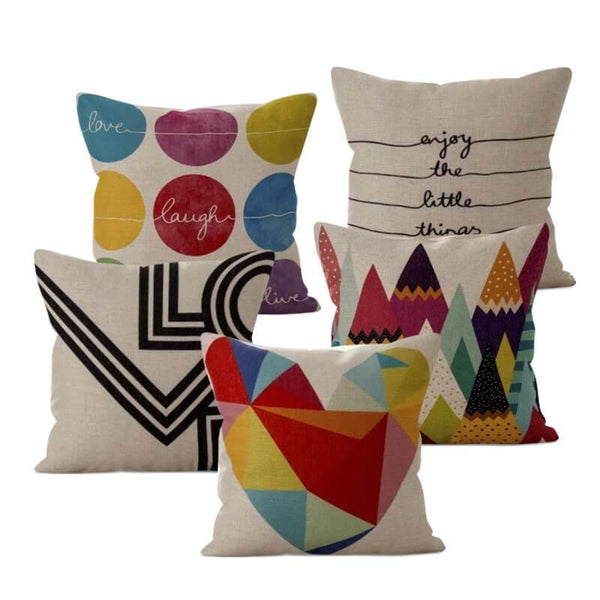 Happy Colors Cushion Covers