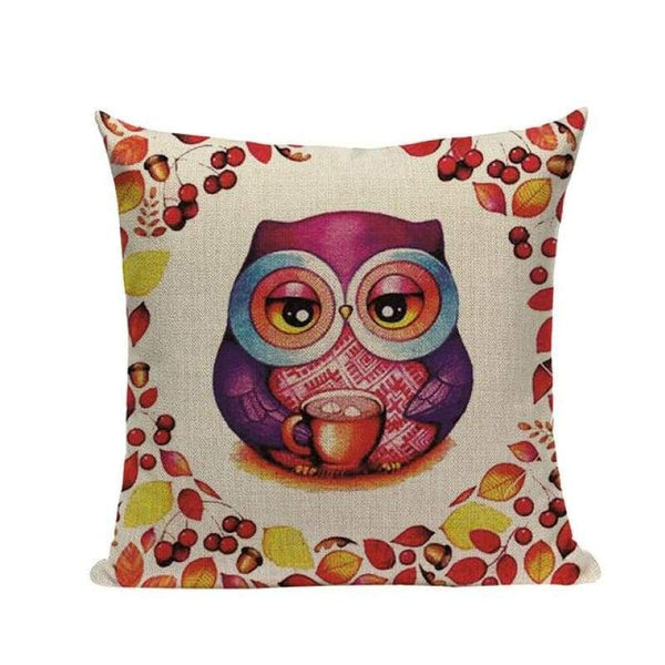 Tiptophomedecor Cartoon Love Owl Cushion Covers