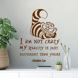 "Cat Quote ""I Am Not Crazy"" Wall Decal-Tiptophomedecor-Interior-Design-Home-Decor"