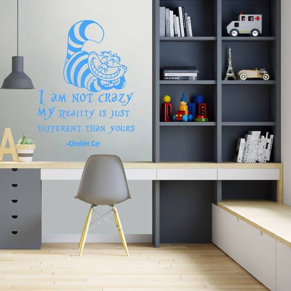 "Cat Quote ""I Am Not Crazy"" Wall Decal"