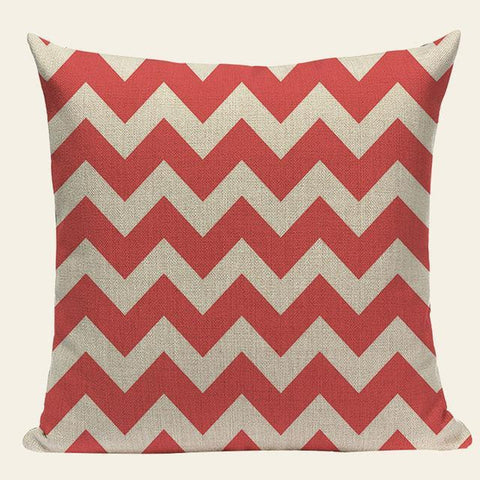 Chevron Ombre Pink Geometric Nordic Throw Pillow Cases-Tiptophomedecor-Interior-Design-Home-Decor