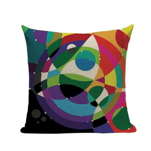 Tiptophomedecor Colorful Abstract Geometric Cushion Covers