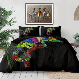 Colorful Chameleon Art Duvet Cover Bedding Set-TipTopHomeDecor