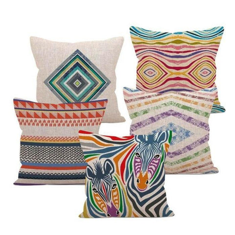 Colorful Happy Waves Cushion Covers-TipTopHomeDecor