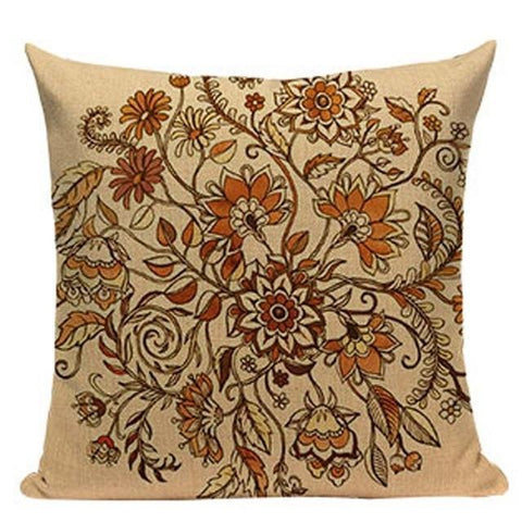 Colorful Flower Mandala Hippie Cushion Covers-Tiptophomedecor-Interior-Design-Home-Decor
