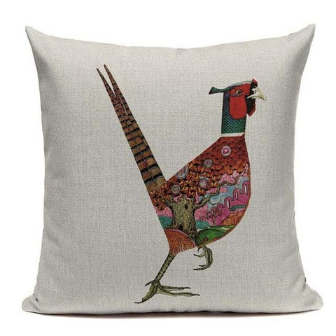 Colorful Modern Animal Art Sofa Cushion Covers-Tiptophomedecor