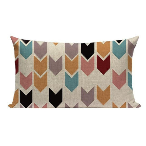 Colorful Nordic Abstract Geometric Pattern Pillow Cases-Tiptophomedecor-Interior-Design-Home-Decor