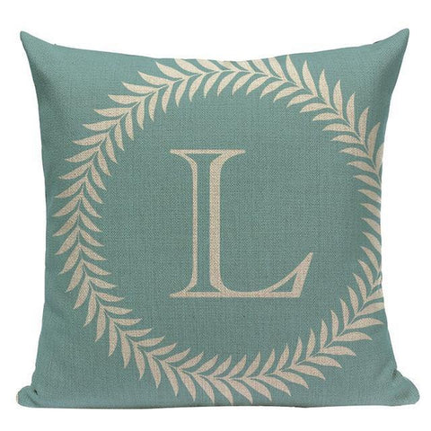 Colorful Nordic Letter Alphabet Cushion Covers-Tiptophomedecor