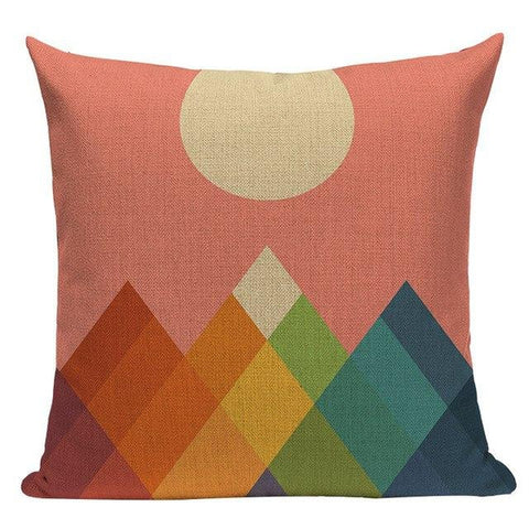 Colorful Nordic Modern Rainbow Animal Throw Pillow Covers-Tiptophomedecor