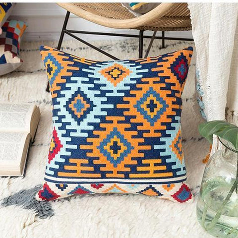 Colorful Tribal Embroidered Cushion Covers-Tiptophomedecor-Interior-Design-Home-Decor