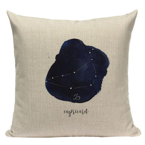 Constellation Blue Ink Watercolor Throw Pillow Cases-Tiptophomedecor-Interior-Design-Home-Decor