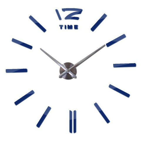 Contemporary 3D Wall Clock Sticker-TipTopHomeDecor