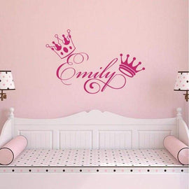 Tiptophomedecor Crown Girls Name Sticker