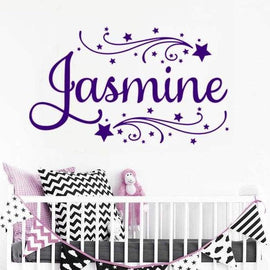 Tiptophomedecor Custom Girls Name Decal