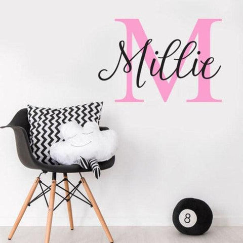 Tiptophomedecor Custom Initial Name Sticker