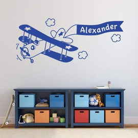 Tiptophomedecor Custom Name Airplane Decal