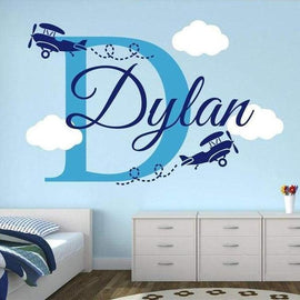 Custom Name Airplane Decal-TipTopHomeDecor
