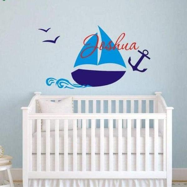 Tiptophomedecor Custom Name Boat Decal