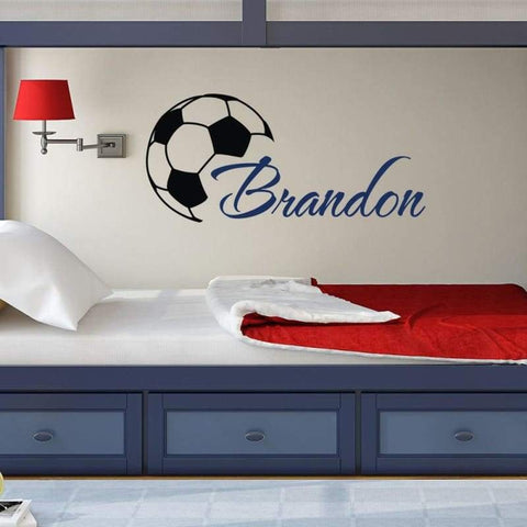 Tiptophomedecor Custom Name Football Decal