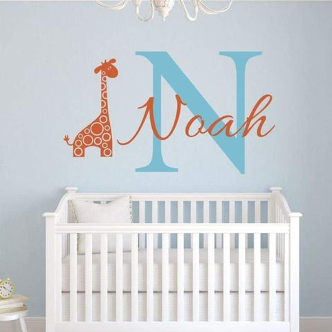 Tiptophomedecor Custom Name Giraffe Decal
