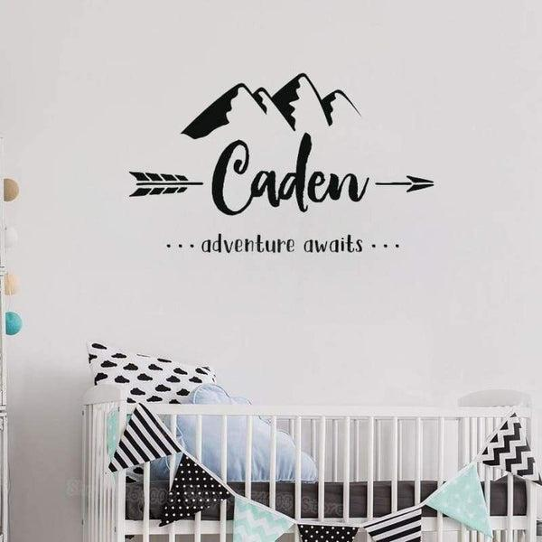 Tiptophomedecor Custom Name Mountains Decal