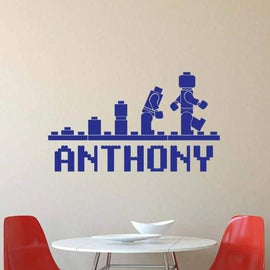 Tiptophomedecor Custom Name Playroom Decal
