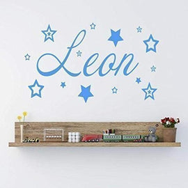 Tiptophomedecor Custom Name Stars Decal