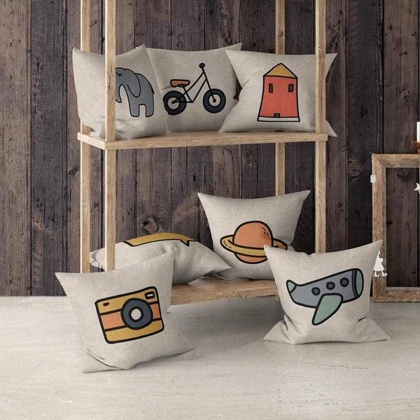 Cute Simple Camera Animal Cartoon Cushion Covers-TipTopHomeDecor