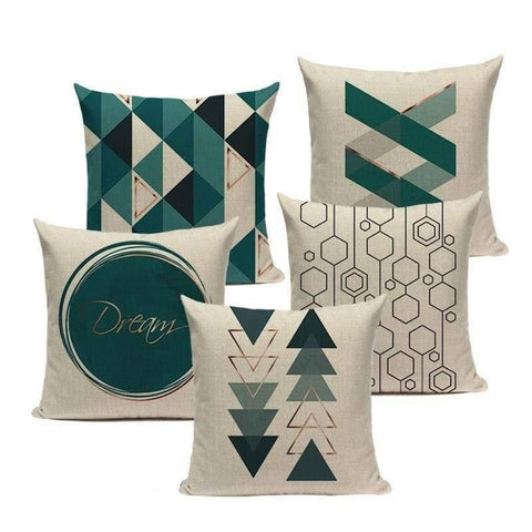 Dark Teal Blue Cushion Covers-TipTopHomeDecor