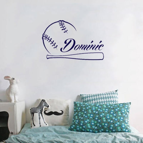 Baseball Custom Name Wall Sticker-TipTopHomeDecor