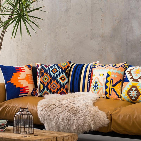 Tribal Embroidered Cushion Covers