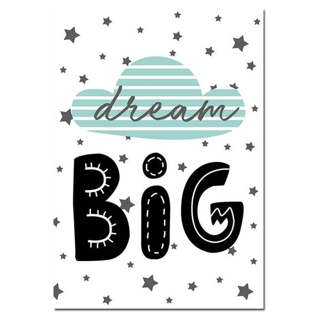 Dream Big Quotes Tribal Bear Nursey Wall Art Prints-TipTopHomeDecor