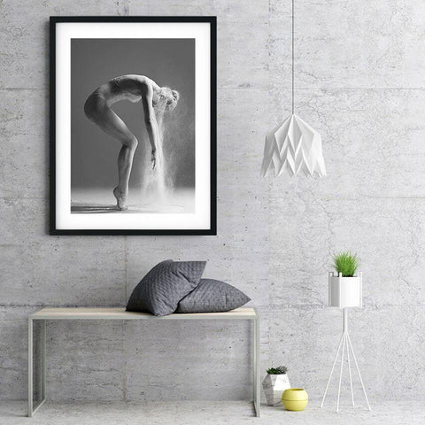 Elegant Ballet Dance Black White Canvas Wall Art Prints-Tiptophomedecor-Interior-Design-Home-Decor