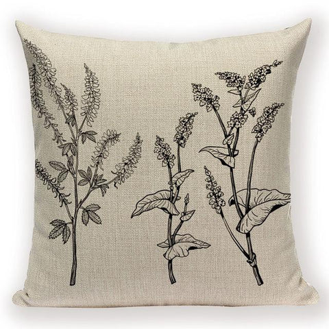 Lavender Flower Cushion Covers