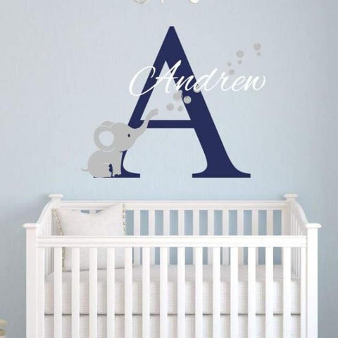 Tiptophomedecor Elephant Bubbles Nursery Decal