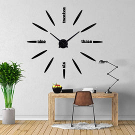 Eliptice Modern 3D Wall Clock Decal-TipTopHomeDecor