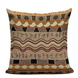 Ethnic African Stripe Throw Pillow Cases-Tiptophomedecor-Interior-Design-Home-Decor