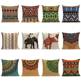 Ethnic Tribal Mandala Elephant Throw Pillow Covers-Tiptophomedecor-Interior-Design-Home-Decor