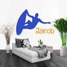 Extreme Surfing Custom Name Wall Sticker-Tiptophomedecor-Interior-Design-Home-Decor