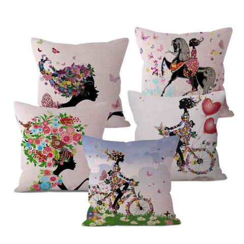 Flower Girl Pillow Covers