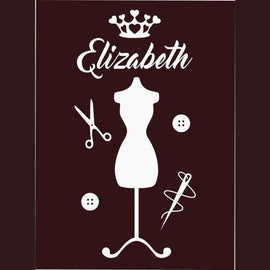 Tiptophomedecor Fashion Girls Name Decal