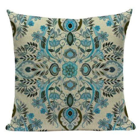Floral Bohemian Mandala Geometric Cushion Covers-Tiptophomedecor