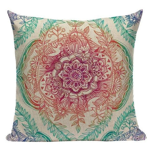 Floral Mandala Bohemian Indian Cushion Covers-Tiptophomedecor-Interior-Design-Home-Decor
